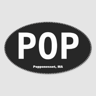 POP Popponesset MA Oval Bumper Sticker