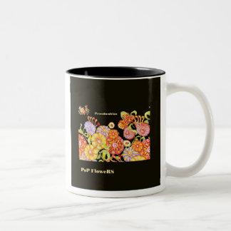 *PoP Precolumbian Flowers* Two-Tone Coffee Mug