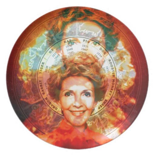 Pop President's Wife Party Plate