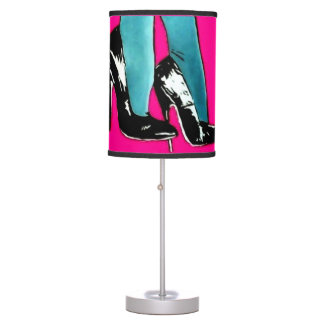 'Pop Pumps' on a table lamp