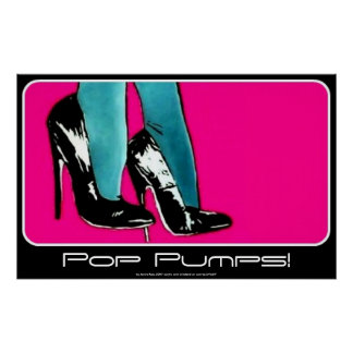 Pop Pumps! painting on a Poster