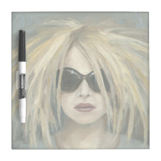 Pop Punk Grrrl Modern Painting Female Portrait Dry Erase Board