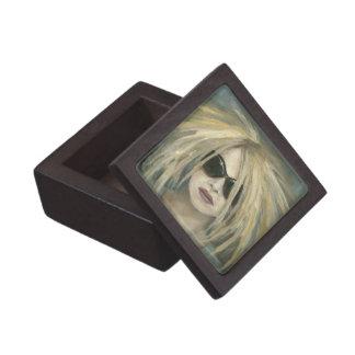 Pop Punk Grrrl Modern Painting Female Portrait Gift Box