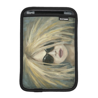 Pop Punk Grrrl Modern Painting Female Portrait iPad Mini Sleeve