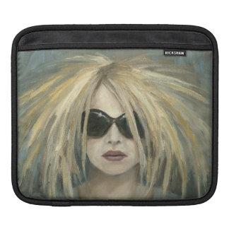 Pop Punk Grrrl Modern Painting Female Portrait iPad Sleeve