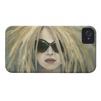 Pop Punk Grrrl Modern Painting Female Portrait iPhone 4 Case-Mate Cases