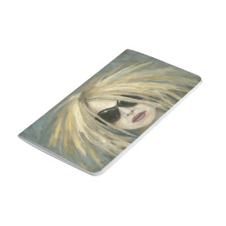 Pop Punk Grrrl Modern Painting Female Portrait Journal