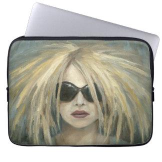 Pop Punk Grrrl Modern Painting Female Portrait Laptop Sleeve