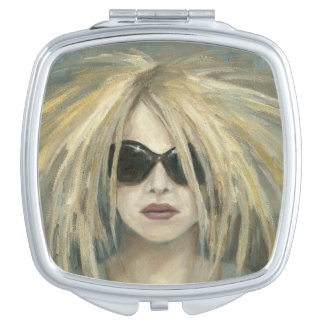 Pop Punk Grrrl Modern Painting Female Portrait Mirror For Makeup