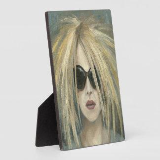 Pop Punk Grrrl Modern Painting Female Portrait Plaque
