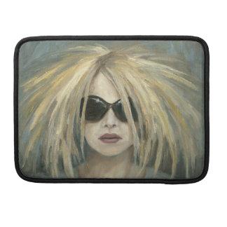 Pop Punk Grrrl Modern Painting Female Portrait Sleeve For MacBooks