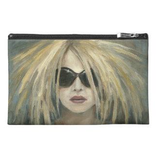 Pop Punk Grrrl Modern Painting Female Portrait Travel Accessory Bag