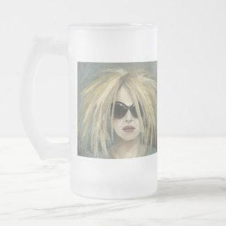 Pop Punk Grrrl 16 Oz Frosted Glass Beer Mug