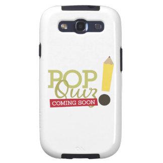 Pop Quiz Coming Soon Galaxy SIII Case
