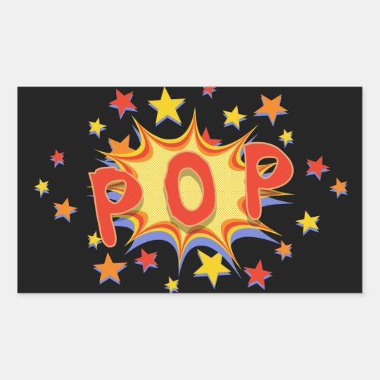 Pop! Rectangular Sticker