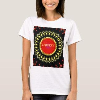 Pop Red Yellow 'Lowkey' Cultural Slang Mandala T-Shirt
