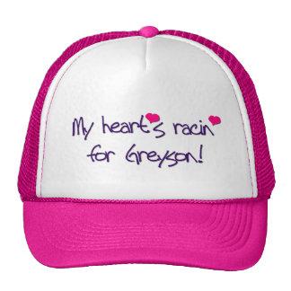 "POP RETRO ""MY HEART'S RACIN FOR GREYSON!"" TRUCKER HAT"