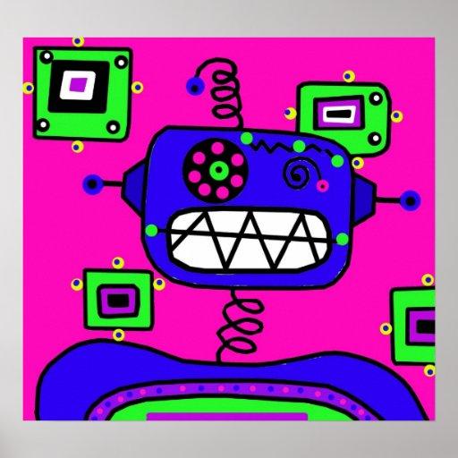 Pop Robot Poster