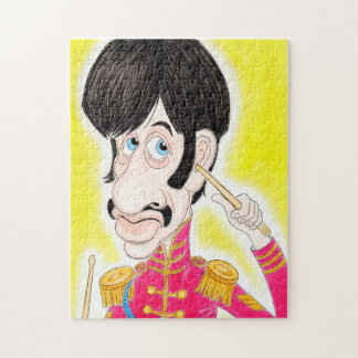 Pop Rock 60s Drummer Music Band Caricature Puzzle