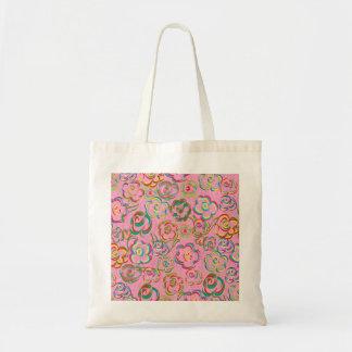 Pop Rose Motif Tote Bag