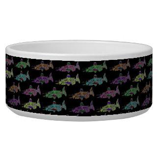 Pop Salmon on Black Bowl