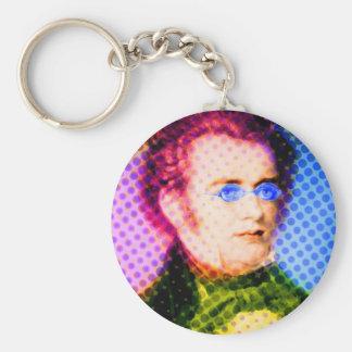 Pop Schubert Basic Round Button Keychain