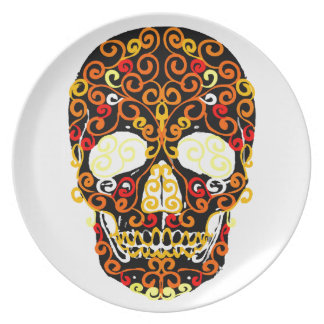 pop skull plate