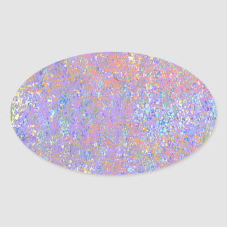 Pop Splatter Oval Sticker
