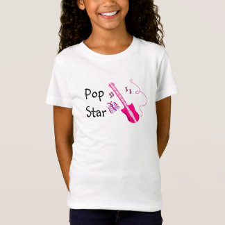 Pop Star Pink Guitar T-Shirt