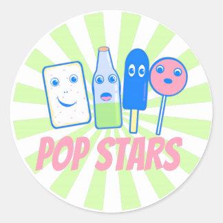 Pop Stars Classic Round Sticker