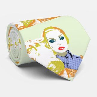 Pop Style Doll Portrait Neck Tie