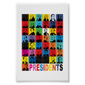 Pop-style Presidents Poster