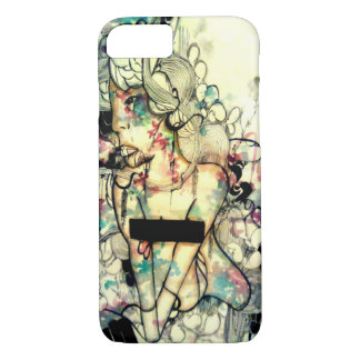 Pop surreal, watercolor and ink art iPhone 7 case