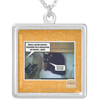 Pop tart for your soul? silver plated necklace