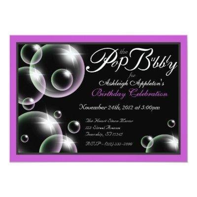 Pop the bubbly birthday party invitation zazzle filmwisefo