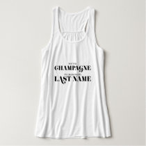 """""""Pop the Champagne"""" - Bride to Be Tank Top"""