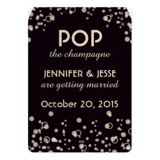 Pop the Champagne - Save The Date Tag Large Business Cards (Pack Of 100)