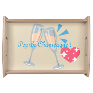 Pop the Champagne Serving Tray