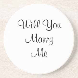 Pop The Question Beverage Coasters