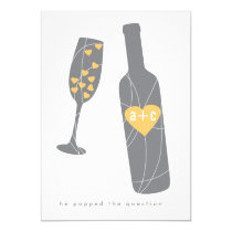 """Pop the Question Engagement Party Invitation 5"""" X 7"""" Invitation Card"""