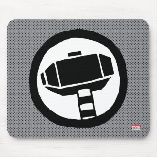 Pop Thor Hammer Icon Mouse Pad