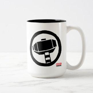 Pop Thor Hammer Icon Two-Tone Coffee Mug