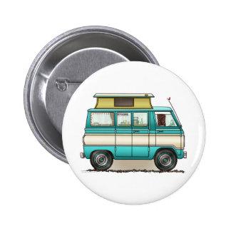 Pop Top Van Camper 2 Inch Round Button