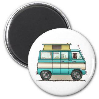 Pop Top Van Camper 2 Inch Round Magnet