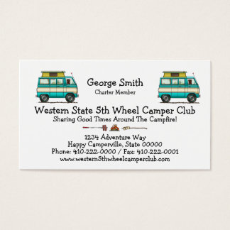 Pop Top Van Camper Business Card