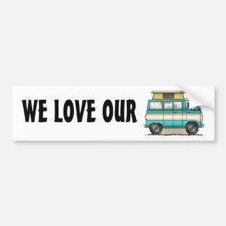 Pop Top Van Camper Car Bumper Sticker