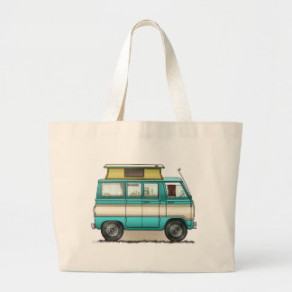 Pop Top Van Camper Large Tote Bag
