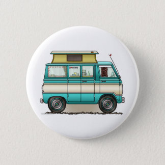 Pop Top Van Camper Pinback Button