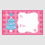Pop Trees Gift Tag Rectangular Stickers