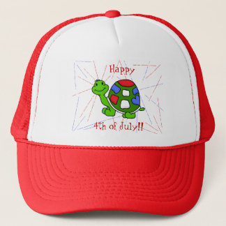 Pop Turtle 4th! Trucker Hat
